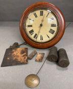 An Early Victorian Mahogany Post Office wall clock