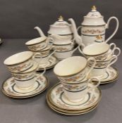 An eight place setting dinner service by Minton in the Stanwood pattern. (Please be aware that there