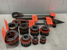 Lot - Ridgid Exposed Ratchet Threader; to Include: (2) Ratchet Handles, (1) Pipe Reamer, (1) Pipe