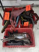 Lot - Assorted Various Size C-Clamps