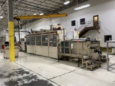 Brown Model SR-3036 In-Line Thermoforming Machine, S/N: 13590 (1998); with 112 in. Pre-Heat