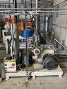 Una-Dyn 15-HP Vacuum Pump, S/N: 24429.01; 460-V, 3-Ph, 60-Cycle, to Include: 15-HP Westinghouse