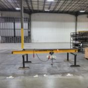 Handling Systems Intl. 1-Ton Cap. Jib Crane; with Coffing Electric Hoist and Trolley