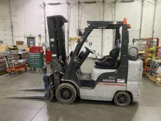 Nissan 4,135 lb. Cap. Model MCU1F2A30LV LP Riding Fork Lift Truck, S/N: CU1F2-900633 (2008); with