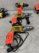 Lot - DeWalt Electric Hand Tools, Consisting of: (1) DeWalt Model Dw245 VRS Drill, 120-V; (1) DeWalt