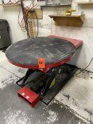Dayton 2,000 lb. Cap. Model 38TJ92 Round Scissor Lift Table, S/N: J18081081-6/145; 43 in. Dia.