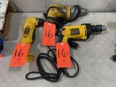 Lot - Electric Hand Tools, Consisting of: (1) DeWalt Model DW110 VSR Drill, 0 - 600 RPM, 120-V; (