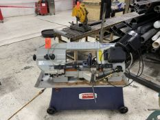Dayton 8 in. x 12 in. Model 48WE31 Horizontal Band Saw, S/N: 101900097; 1-HP, 1,725 RPM, 120/240-V