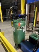SpeedAire 5-HP Model 3F231B Vertical Tank Mounted Reciprocating Air Compressor, S/N: 98-01673;