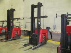 """4,500 lb. Raymond, Model 750-DR-32-TT, 3-Stage Electric Narrow Aisle Double Reach Forklift, 301"""""""