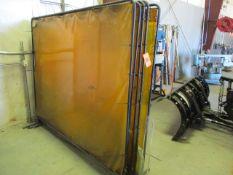 Lot - (4) 6' x 8' Welding Screens