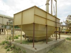 """10' x 20' x 10' High Steel Waste Water Tank with (2) 8"""" End Bottom Discharge, (2) 12"""" Side"""