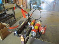 Lot - Power Team P59L Hydraulic Pump with (4) Hydraulic Jacks