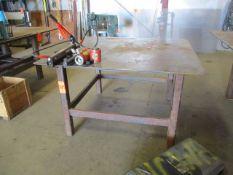 "5' x 5' x 1/4"" Steel Welding Table"