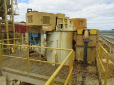 2014 Azfab Model AFTD-200, Twin Shaft Vertical Durability Attrition Cell Mill, (2) 75 HP Drives on