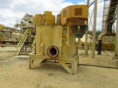 2014 Azfab Model AFTD-200, Twin Shaft Vertical Durability Attrition Cell Mill, (2) 75 HP Drives (S/