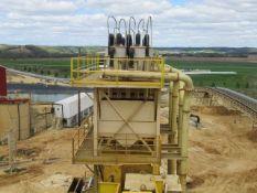 """Azfab Model 1200/90, Super Cutter Hydro-Cyclone Tower, 1,200 GPM, 90 TPH, (5) 24"""" Diameter x 66"""""""