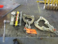Flexco FSK2 Belt Skiver, s/n 00577 with (2) Belt Clamps