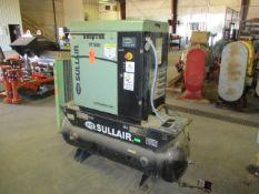 Sullair ST510 AC Shop Tek Horizontal Tank Mounted Rotary Screw Air Compressor, 2014, s/n