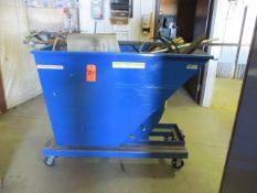 Uline H-2110 1-Yard Heavy Duty Self Dumping Scrap Hopper