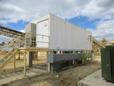 HillPhoenix 10' x 32' Power Enclosure, Mounted on Concrete Supports, (2) Man Doors with 12-Step