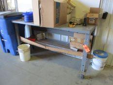 "30"" x 72"" Steel Table on Wheels"