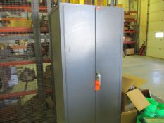 2-Door Heavy Duty Steel Storage Cabinet with Part Bins