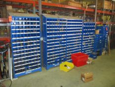 Lot - Fastenal Part Bins and Part Drawers with Contents