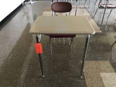 Lot - (17) Student Desks (Room 300)