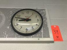 Lot - (1) American Flag (1) X-Acto KS Pencil Sharpener (1) Wall Clock (Room 301)