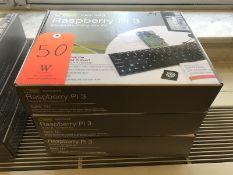 Lot - (3) Raspberry Pi3 Model B+ Complete Kits (Room 304)