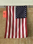 Lot - (1) American Flag (1) X-Acto KS Pencil Sharpener (1) Wall Clock (Room 300)