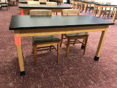Lot - (1) 60 in. Wood Desk (2) Chairs (Room 310)