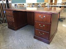 Lot - (1) 72 in. Desk (1) 36 in. Bookshelf (Room 304)