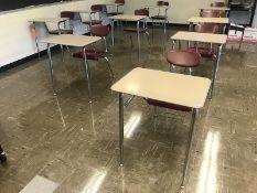 Lot - (17) Student Desks (Room 301)