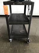 Lot - (2) Rolling Media Carts (Room 300)