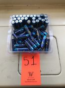 Lot - (50) Alkaline Power Cell AA Batteries (Room 304)