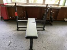 Weight Bench with Weights and Rack (Weight Room 105)