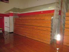 Hussey 16 ft. Long 8-Row Wood Telescopic Bleachers (Gym)