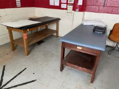 Lot - (2) Trainer Tables (Gym)