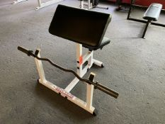 Body Solid Seated Curl Bench with Bar and Weighs (Weight Room 105)