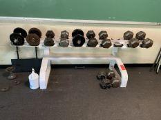 Lot - (12) Dumb Bells with Rack (Weight Room 104)