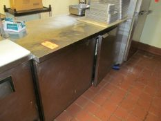 Stainless Steel Food Prep Station Refrigerator, with (2) Swing Doors, (2) Shelving Units, and