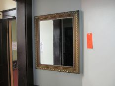 Lot - (3) Posters, (1) Mirror (Upstairs Restrooms)