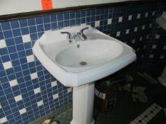 Lot - (2) Restroom Sinks (Upstairs Restrooms)