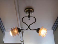 Lot - (3) Antique Light Fixtures (Upstairs Hallway)
