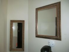 Lot - (2) Posters, (4) Mirrors (Upstairs Restrooms)