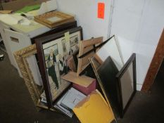 Lot - Assorted Pictures and Frames (Upstairs Office)