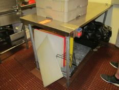 5 ft. x 2.5 ft. (approx.) Stainless Steel Table (Upstairs Prep and Wash)