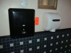 Lot - (1) XLERATOR Hand Dryer, (1) Paper Towel Dispenser, and (1) Soap Dispenser (Upstairs